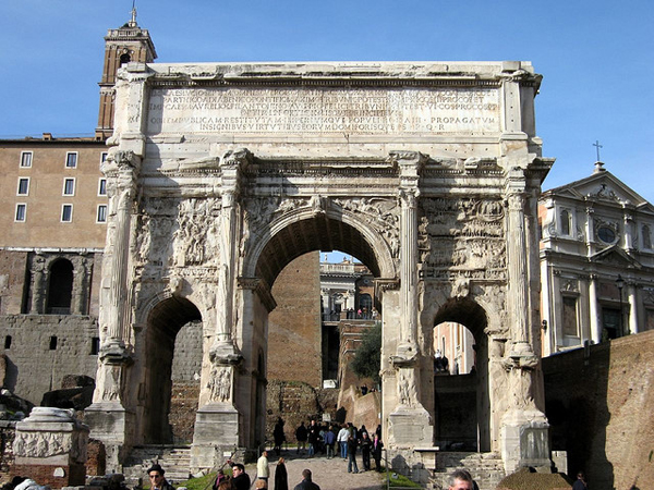 Римский форум - Арка Септимия Севера