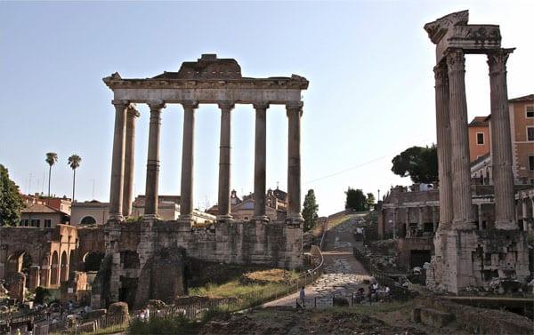 Римский форум - Храм Сатурна