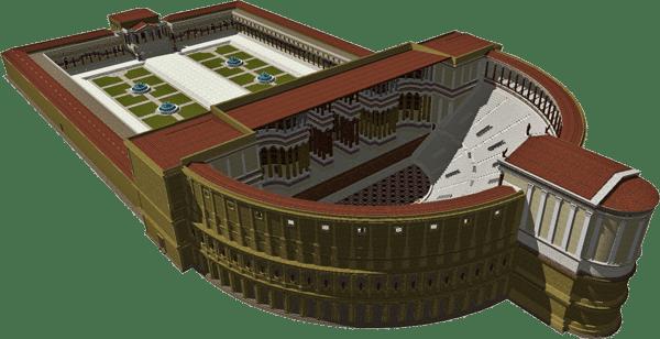 Марсово поле в Риме - Театр Помпея
