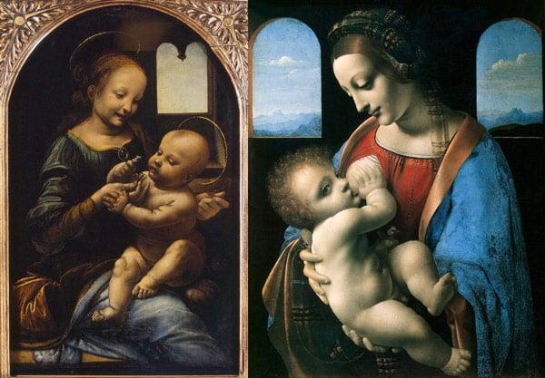 картины Леонардо в Эрмитаже Мадонна Бенуа и Мадонна Литта