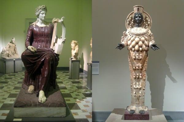 Археологический музей Неаполя - Статуи Аполлона и Афины