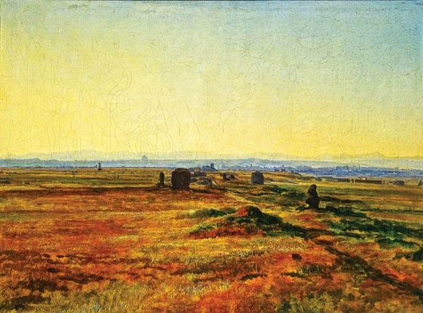 Картина Иванова - Аппиева дорога на закате солнца