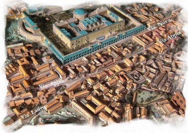 Аппиева дорога в Риме - Макет
