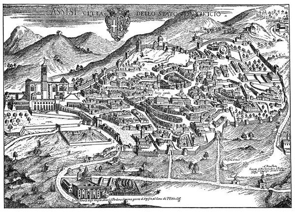 Панорама исторических памятников Ассизи