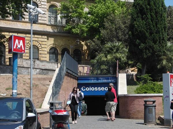 Метро Рима - Станция Колизей