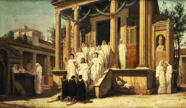 Храм Весты в Риме - Девы-весталки