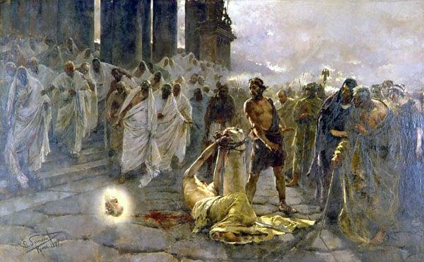 Собор Святого Павла в Риме - Усекновение главы св. Павл