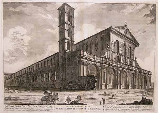 Собор святого Павла в Риме - Гравюра
