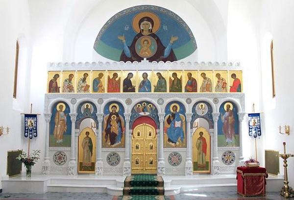Храм святой Екатерины в Риме - Фреска святой Екатерины