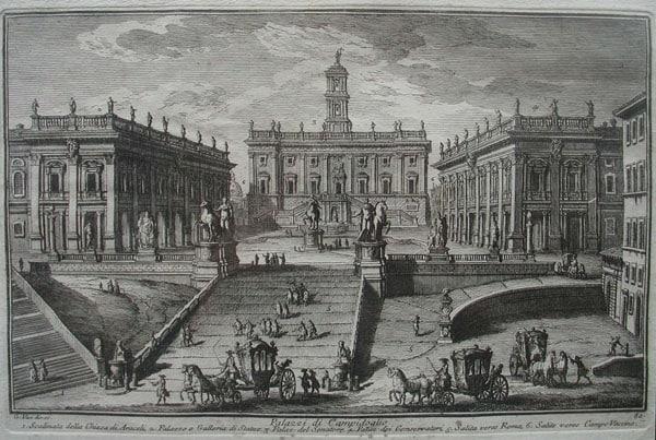 Капитолий в Риме - Средневековая гравюра