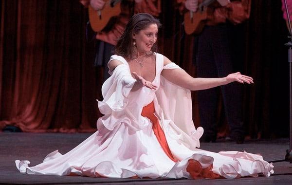 Ольга Янковская на сцене театра Ромен –гастроли в Италии