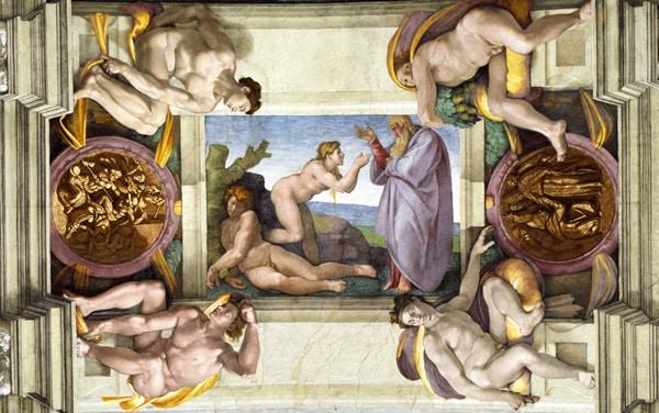 Сикстинская капелла в Ватикане - Сотворение Евы