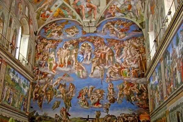 Сикстинская капелла в Ватикане - Страшный суд