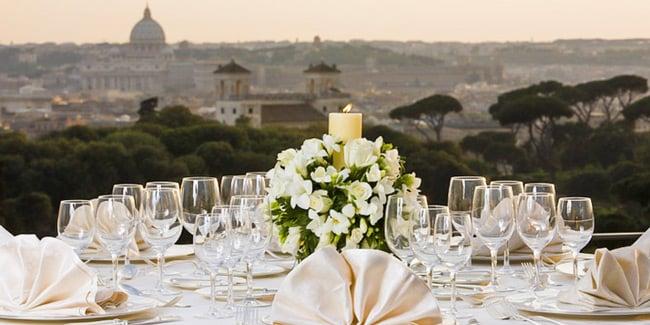 ресторан отеля 4 звезды Rome Marriott Grand Hotel Flora