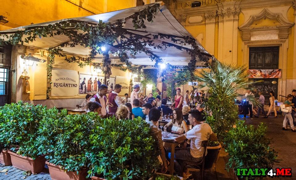 Rugantino_restoran_Trastevere_Rim