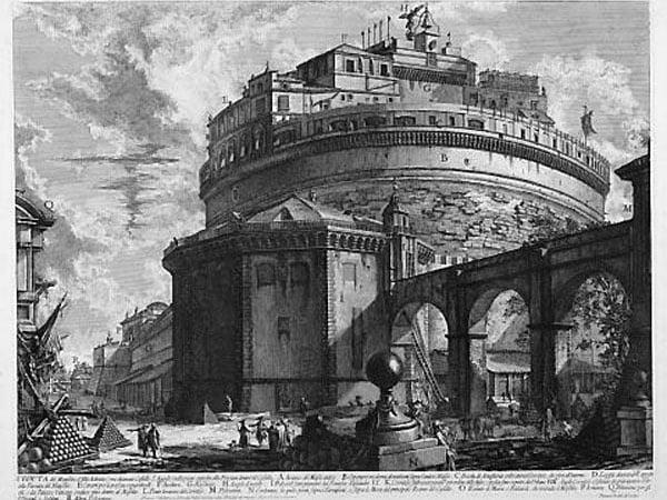 Замок Святого Ангела в Риме - Гравюра Пиранези
