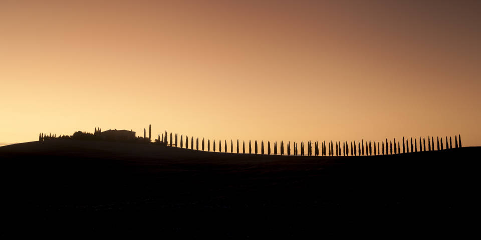 Тоскана на закате