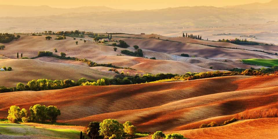 Цвета Тосканы Италия