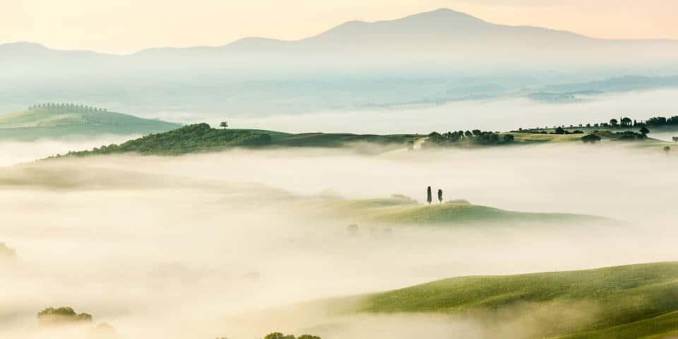Тоскана в тумане