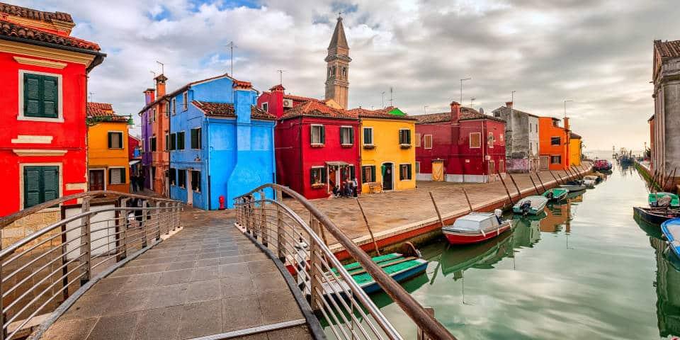 Яркие домики Бурано (Венеция)