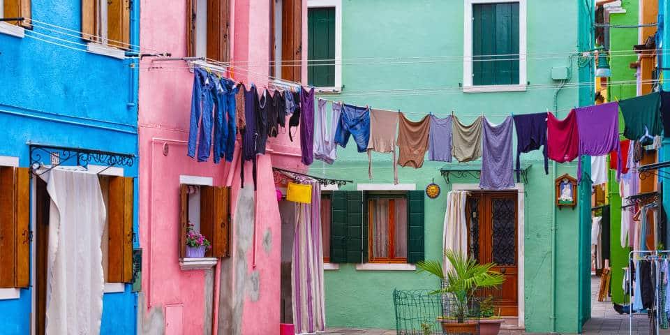 Цветные дома в Бурано