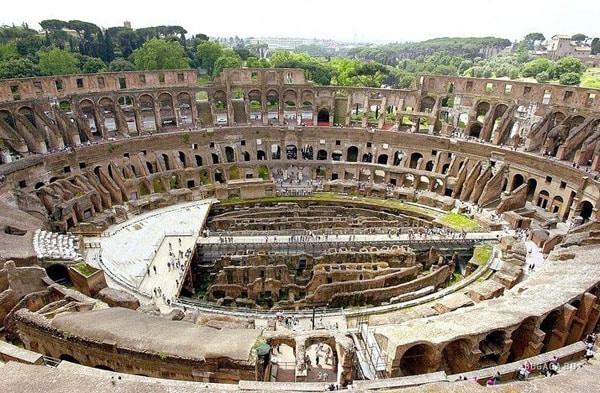 Колизей в Риме - Трибуны и Арена