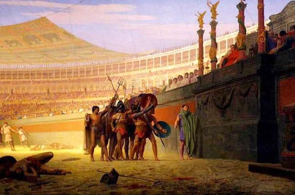 Колизей в Риме - Гладиаторы на Арене