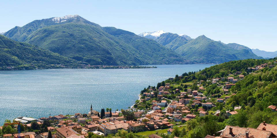 Озеро Комо в Италии: панорама