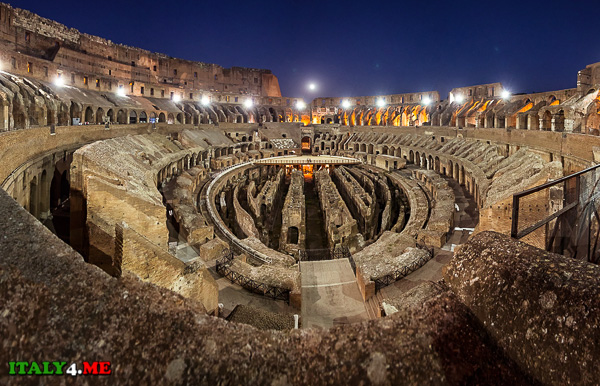 Колизей в Риме - Арена и подземные ходы