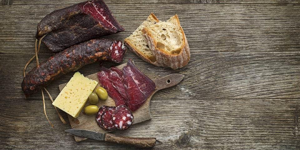 Итальянское вяленое мясо