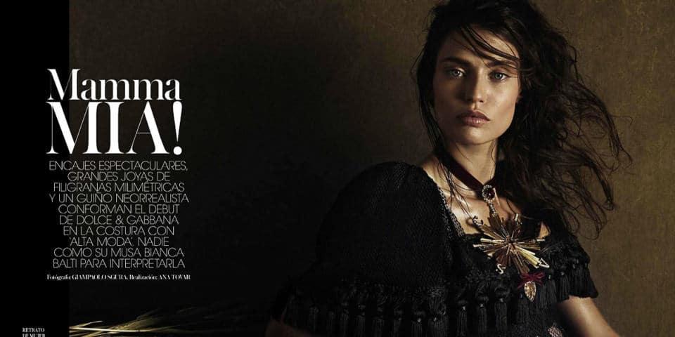 Фотомодель Бьянка Балти фото на обложке журнала