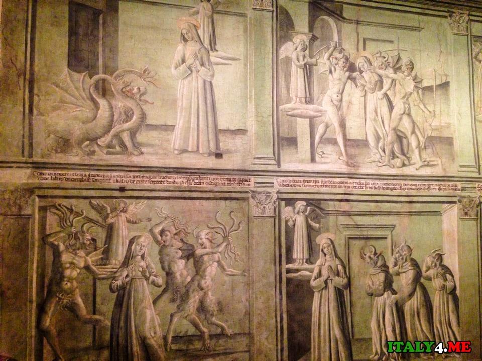 волшебные фрески 15 века с испытаниями святой Франчески римской