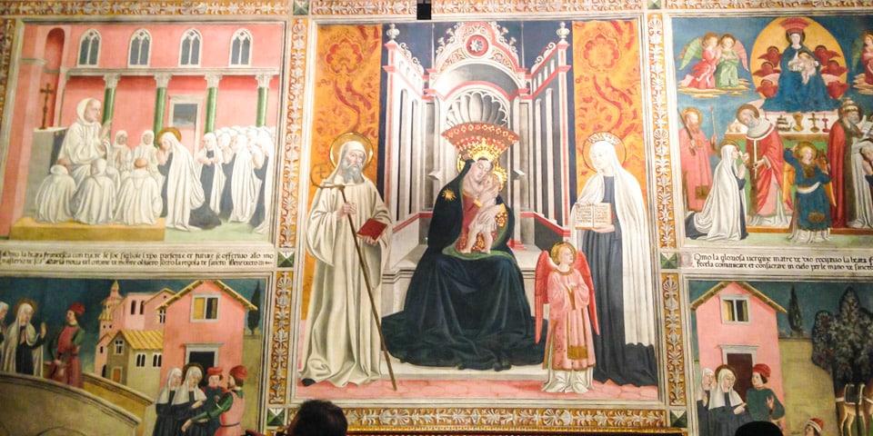 фреска с изображением святой Франчески в римском монастыре Тор де Спекки