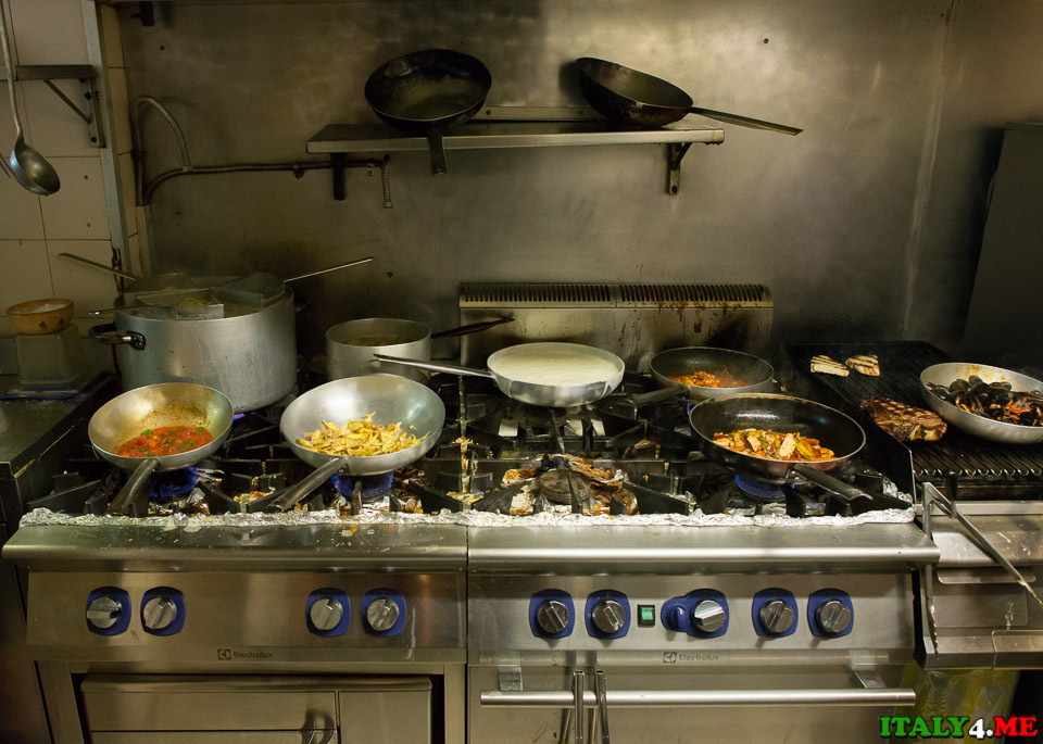 кухня ресторана во Флоренции