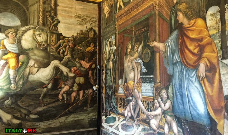 Укрощение Буцефала Александр Македонский фреска на вилле Фарнезина