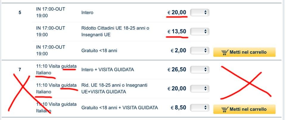 Цены билеты в галерею Боргезе