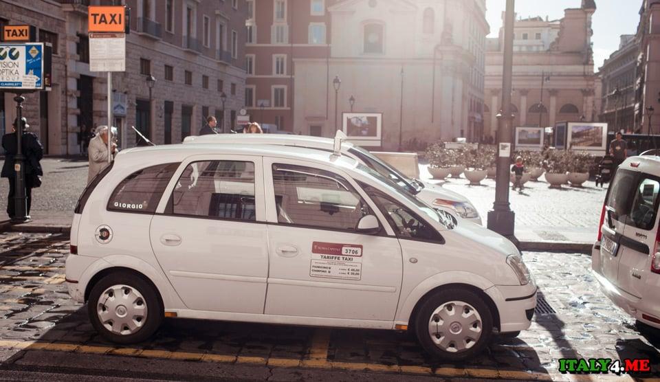 taxi-v-Rime-stojanka