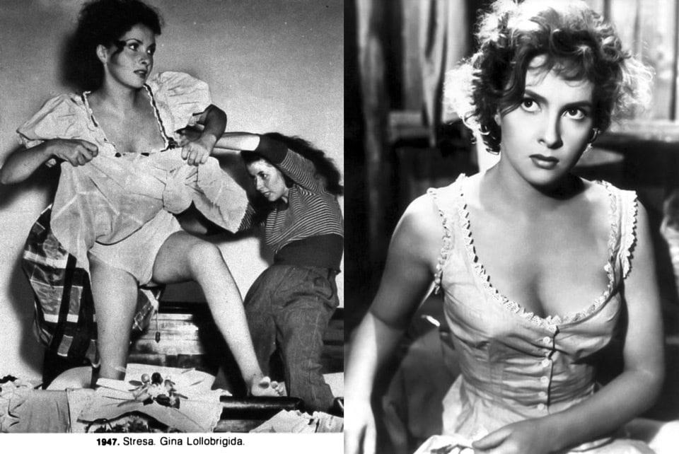 Итальянская актриса Джина Лоллобриджида обнаженная в 1947 году