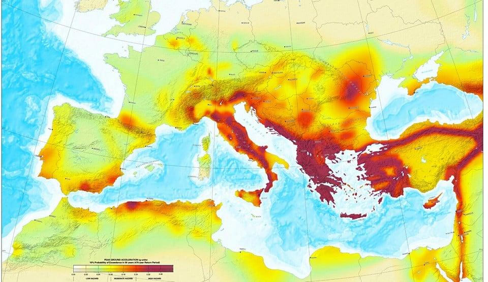 Районы Италии, наиболее подверженные землетрясениям