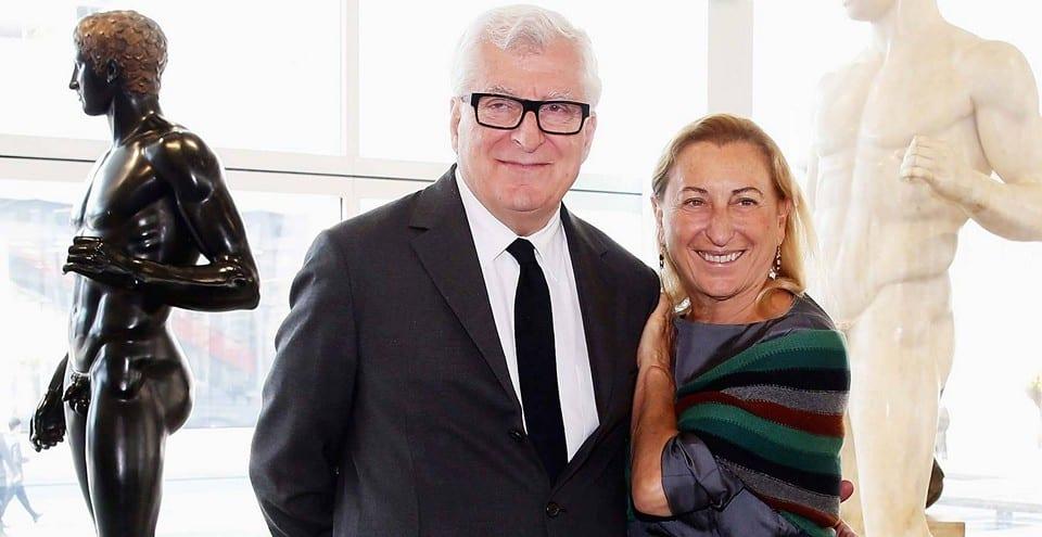 Миучча Прада со своим мужем