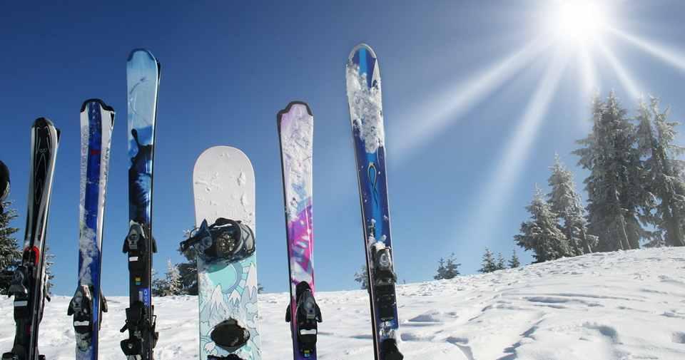 Лыжи, сноуборд и другое снаряжение можно взять напрокат