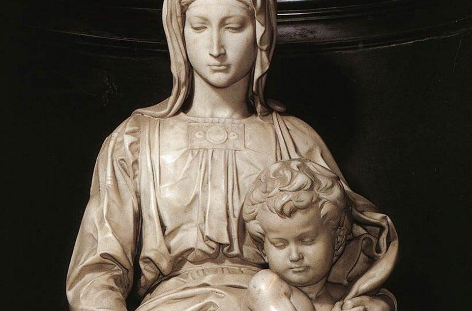 """Мраморная статуя """"Mадонна Брюгге"""""""