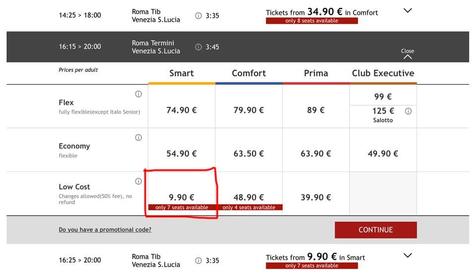 Италотрено – покупка билетов на официальном сайте