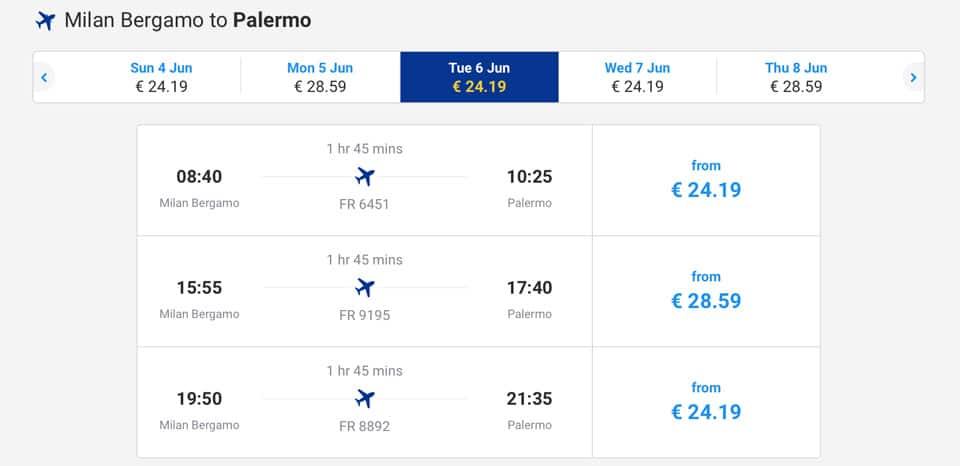 Как добраться до Сицилии: расписание прямых рейсов, стоимость билетов