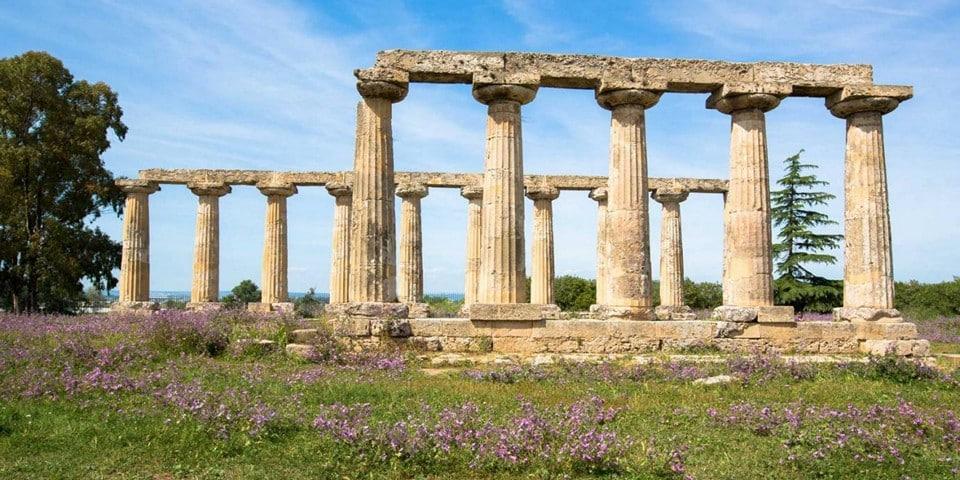руины античного греческого города Метапонт