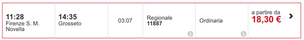 Поезд в Гроссето из Флоренции, расписание, стоимость билета
