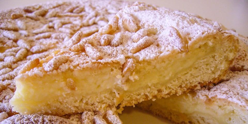 флорентийский пирог с заварным кремом Torta della Nonna