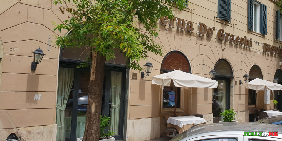 Ресторан Taberna De' Gracchi в районе Прати в Риме