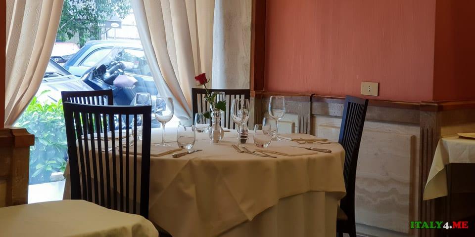Интерьер ресторана в Риме Taberna De' Gracchi