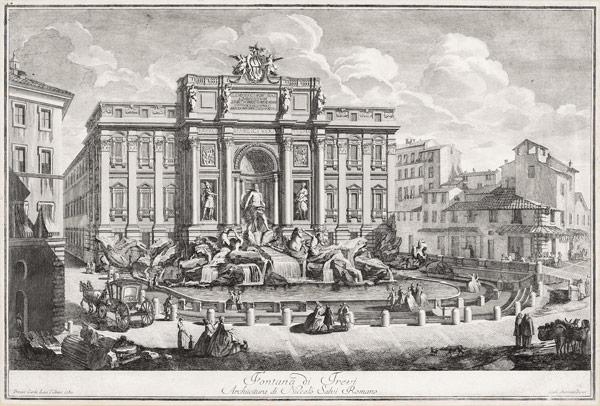 Фонтан Треви открытка 18 века